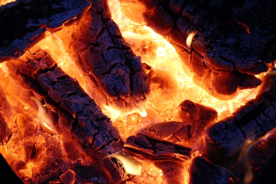 Fire, Embers, Flame, Campfire, Heat, Hot, Weissglut