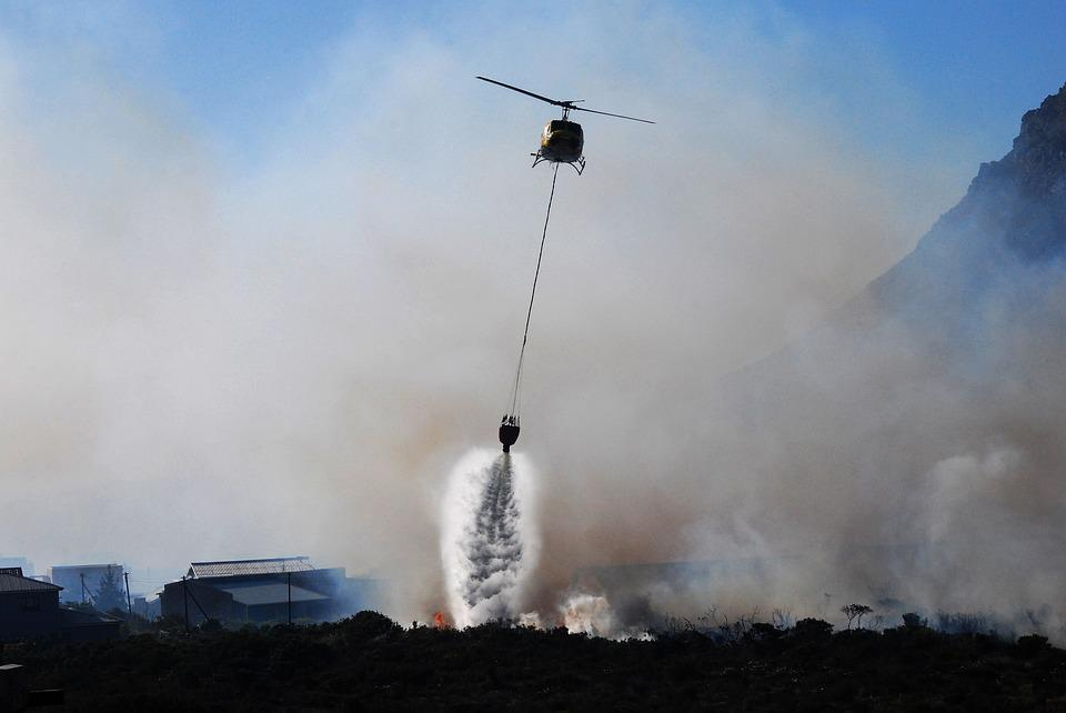 Helicopter, Fire, Smoke, Fire Fight, Fire Fighting