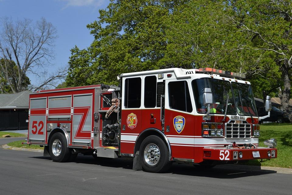 Fire, Fire Truck, Fire Engine, Fireman, Vehicle