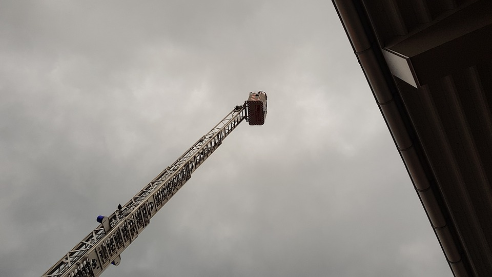 Fire, Head, Turntable Ladder, Ladder, Fire Fighting