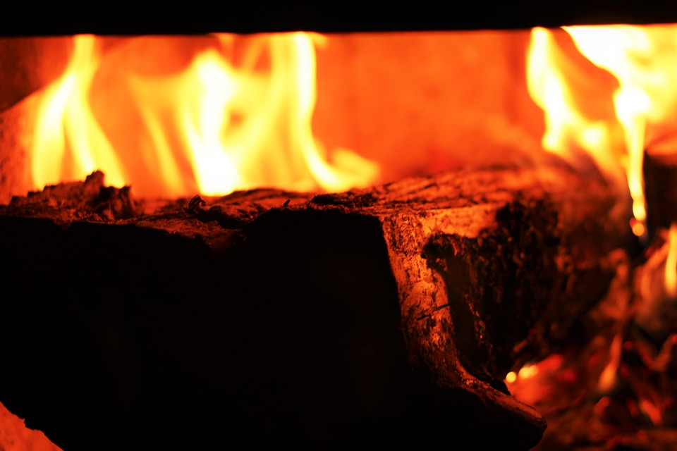 Firewood, Fire, Fireplace