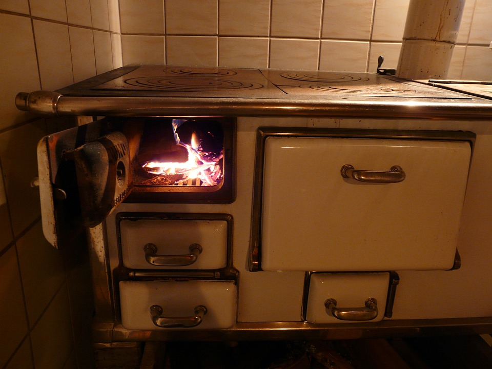 Oven, Stove, Fire, Heat, Hot, Fireplace, Doors, Folding