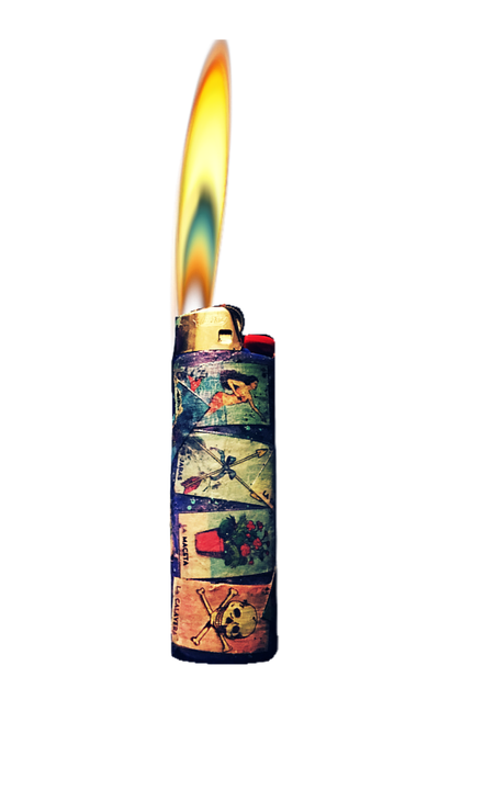 Lighter, Flame, Fire