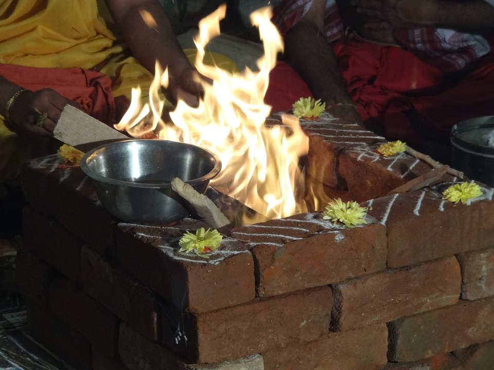 Ceremony, Fire, Prayers, Agni, God Of Fire, Religious