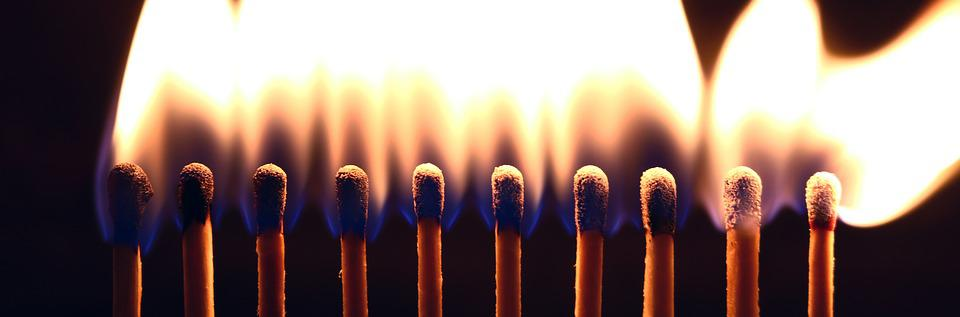 Matches, Flame, Fire, Ignite, Match, Burn, Sticks