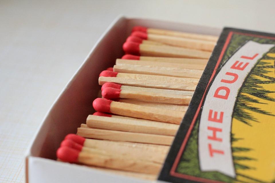 Matches, Fire, Kindle, Match, Matchbox, Sticks