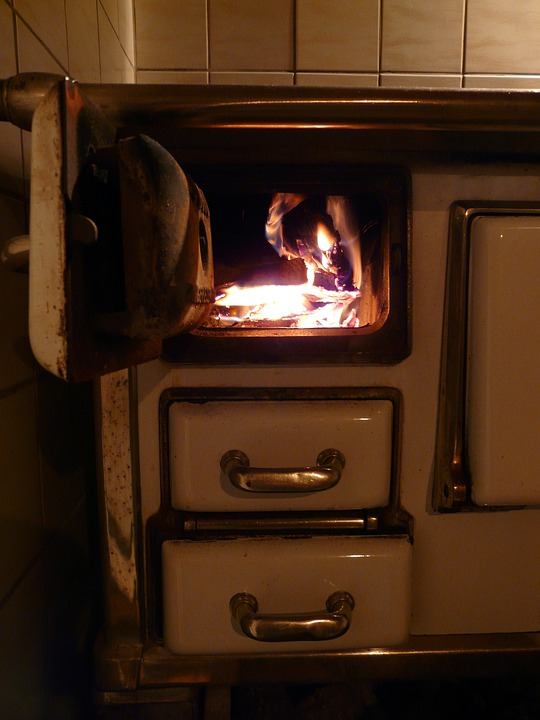 Oven, Oven Slide, Wood Fire, Heat, Fire, Embers, Hot