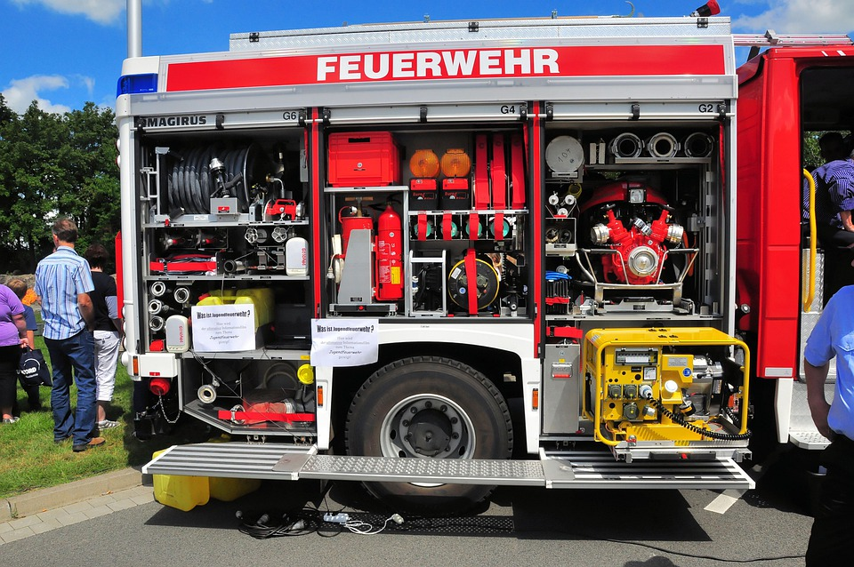 Fire, Rescue Vehicles, Interior View, Event, Public