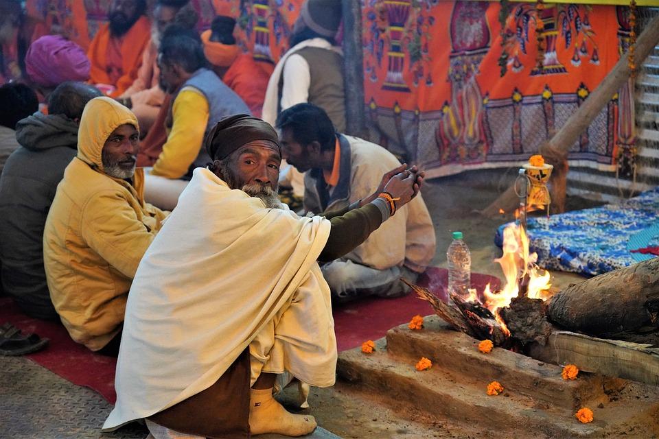 Fire, Saint, Celebration, People, Decoration, Religions