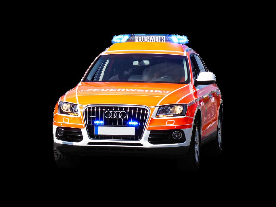 Transport, Traffic, Fire, Save, Blue Light, Auto
