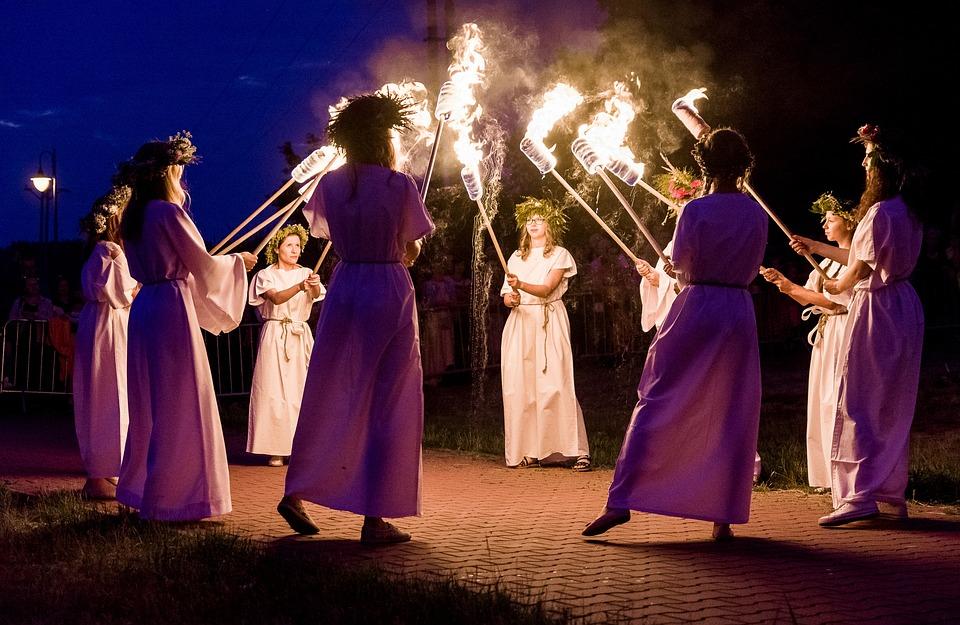 The Night Of Kupala, Fire, Dance, An Outbreak Of, Women