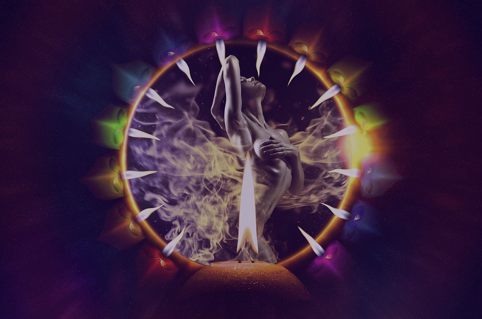 Flame, Energy, Ritual, Women, Naked, Artistic, Fire