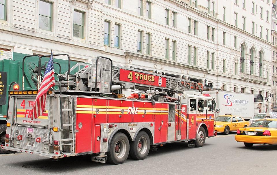 New York Feuerwehrtruck, Fdny, Firebrigade