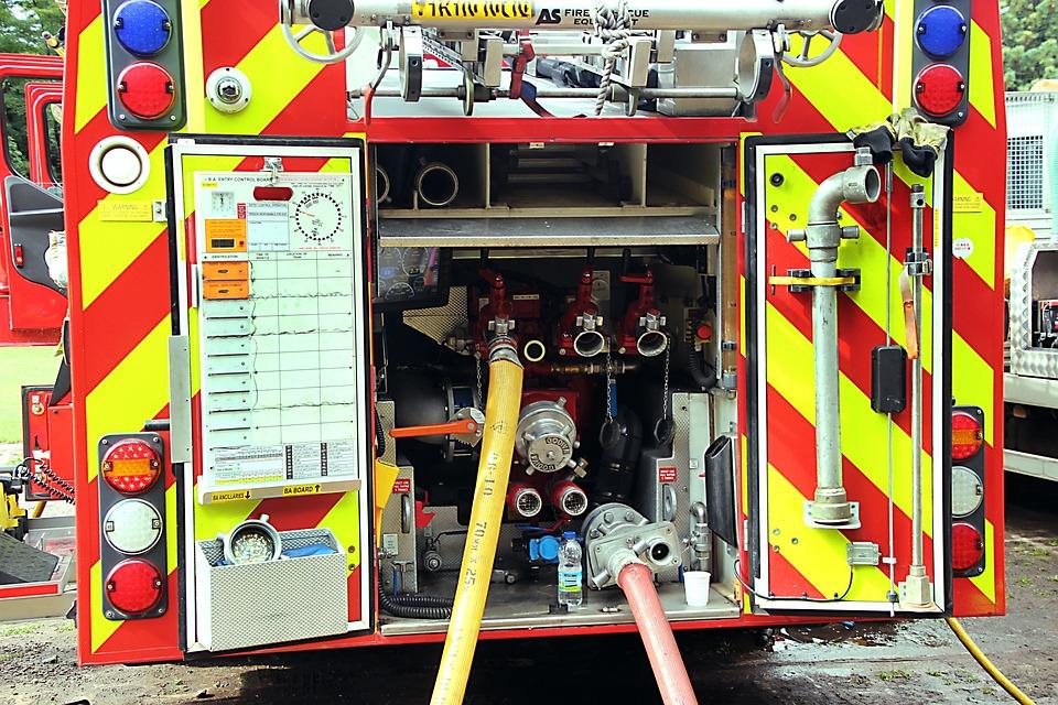Fire Truck, Emergency Service, Rescue, Firefighter