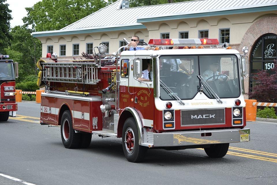 Fire Truck, Firefighter, Truck, Parade, Work