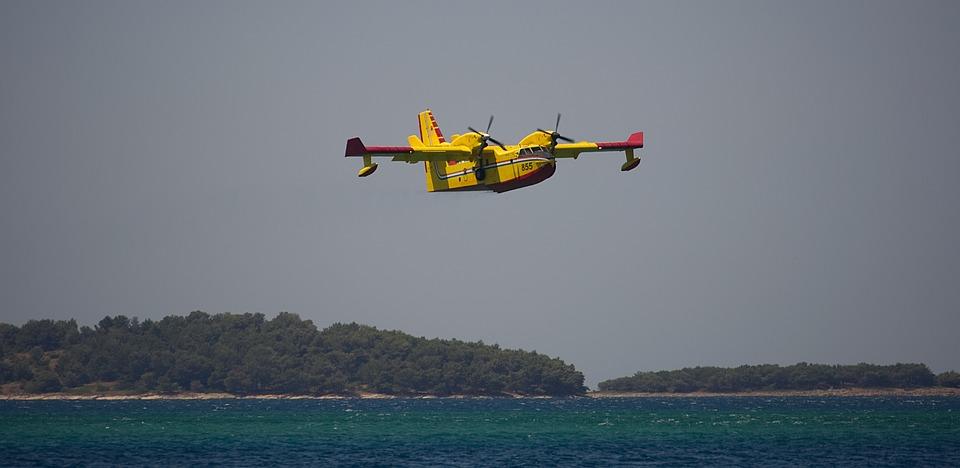 Aircraft, Sea, Fire, Croatia, Firefighters