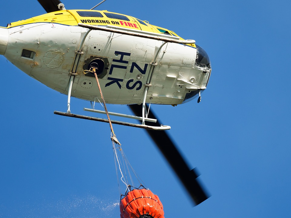 Firefighting Helicopter, Helicopter, Plane, Airplane