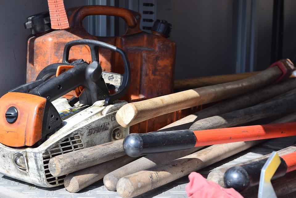 Chainsaw, Ax, Emergency, Firemen, Equipment
