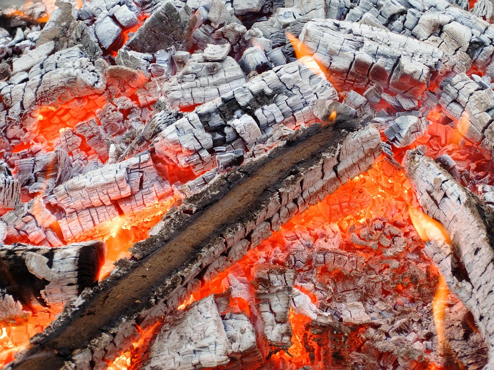 Wood, Fire, Flame, Embers, Burn, Heat, Fireplace, Blaze