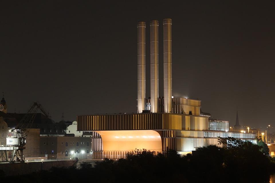 Industry, Fireplace, Würzburg, Factory, Huge, Chimney