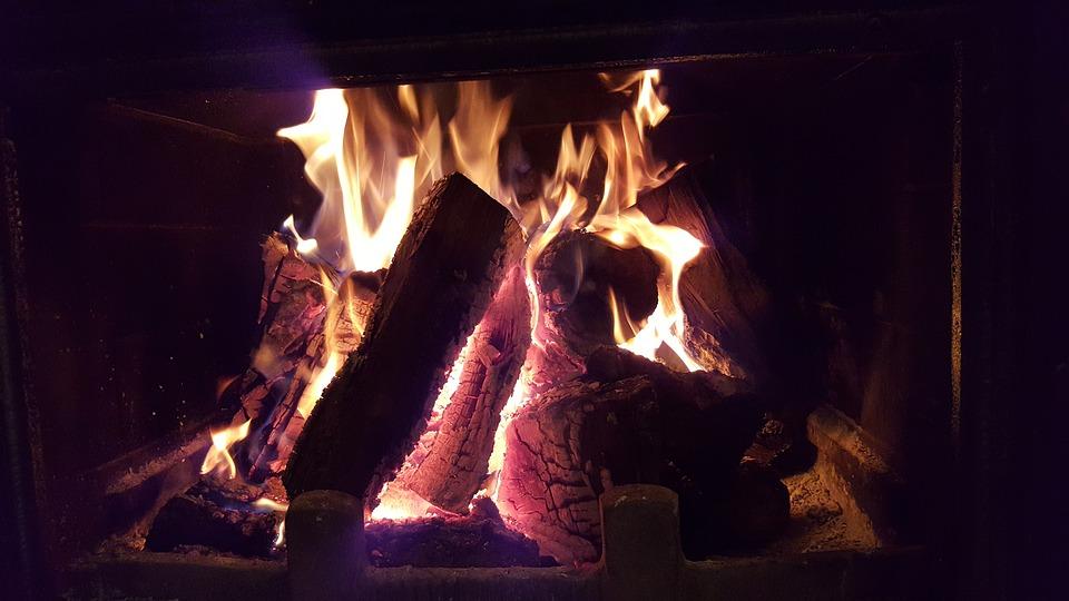 Fireplace, Fire, Wood, Light, Romance, Seems