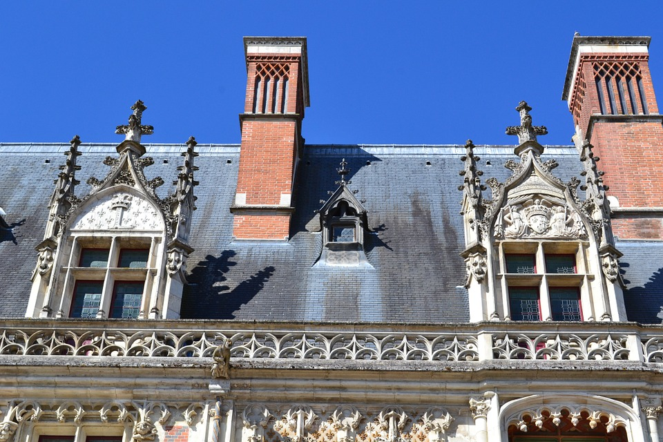 Blois, Castle, Roof, Window, Fireplace