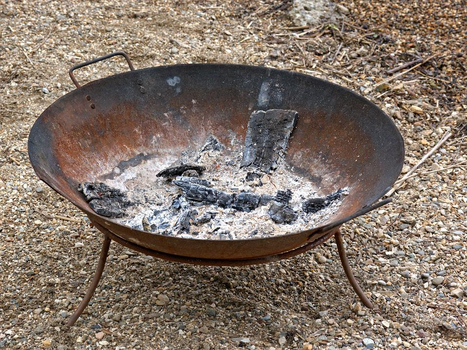 Fire Bowl, Shell, Metal, Fireplace, Security, Fire