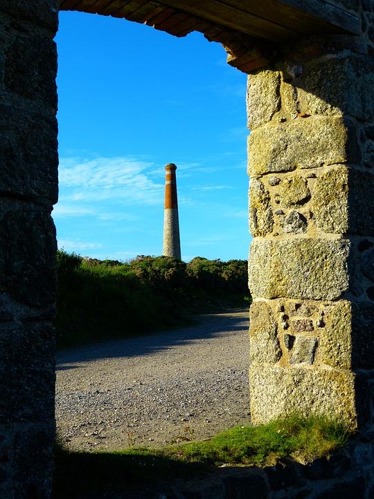 Fireplace, Chimney, Mine, Botallack Mine, St Just