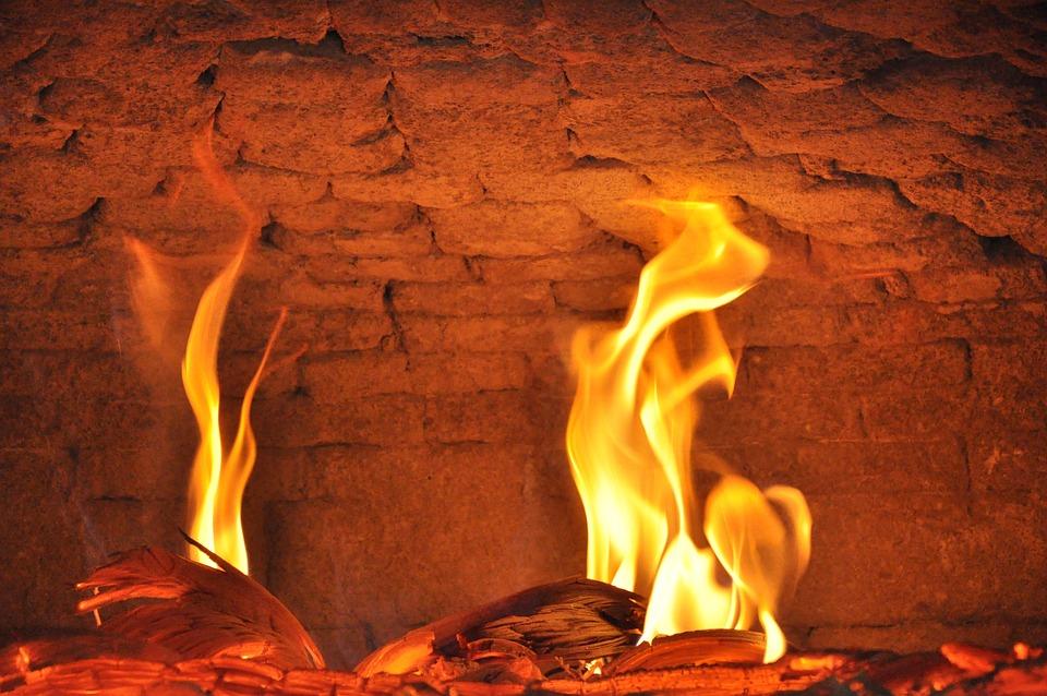 Fireplace, Festival, Carved Fireplace, Stove, House