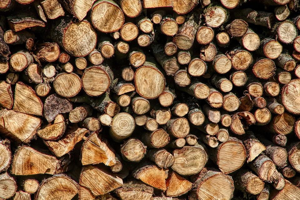 Wood, Stack, Firewood, Energy, Forest, Background