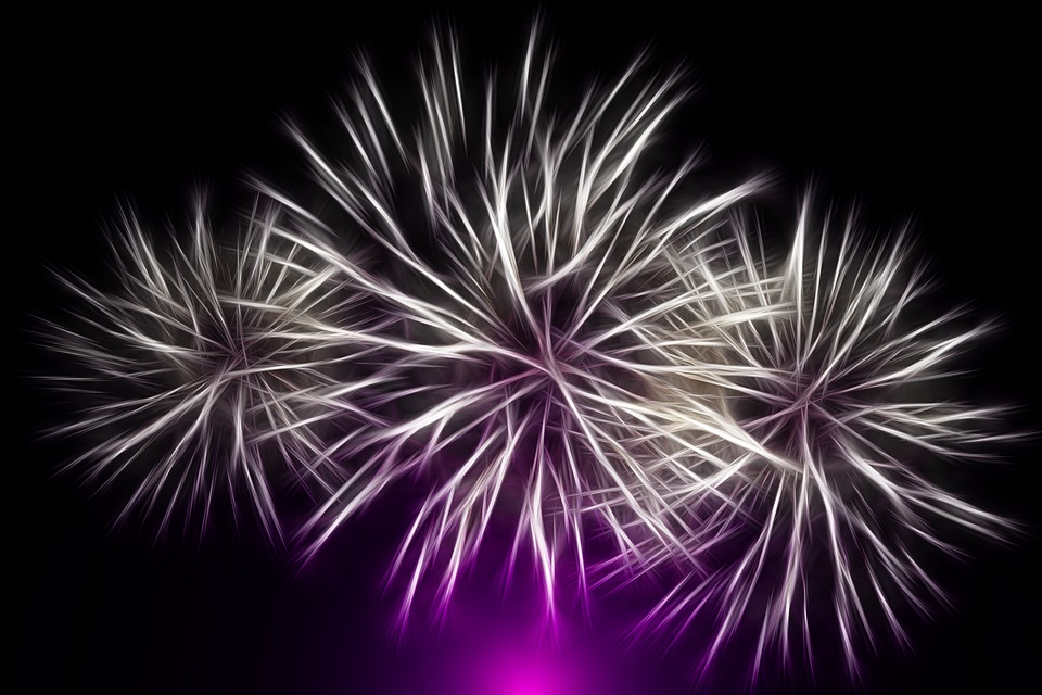 Fireworks, New Year's Eve, New Year's Day, Colorful
