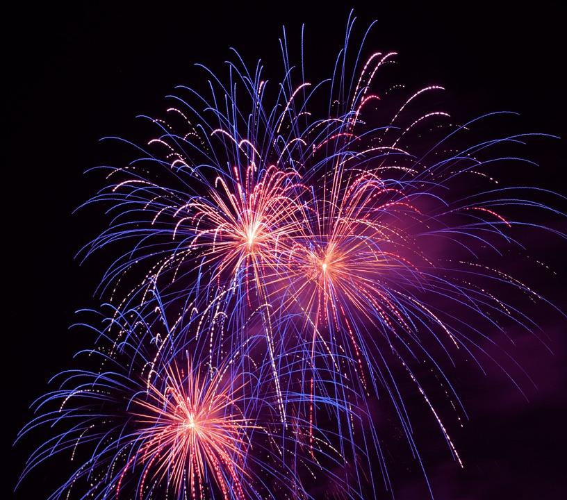 Fireworks, Sky, The Eruption, Light, Colorful
