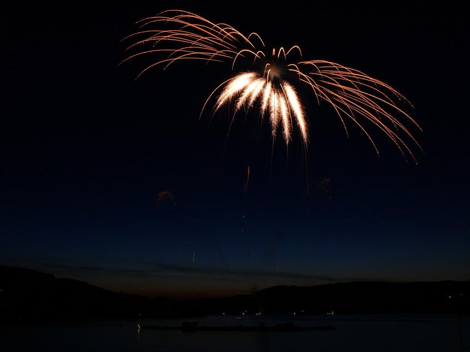 Fireworks, Sparklers, Bank, Celebration, Light, Flame