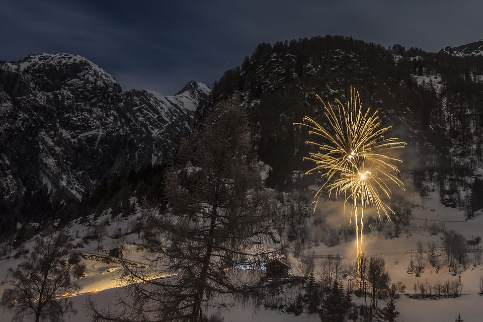 Fireworks, New Year's Eve, New Year's Day, Nature