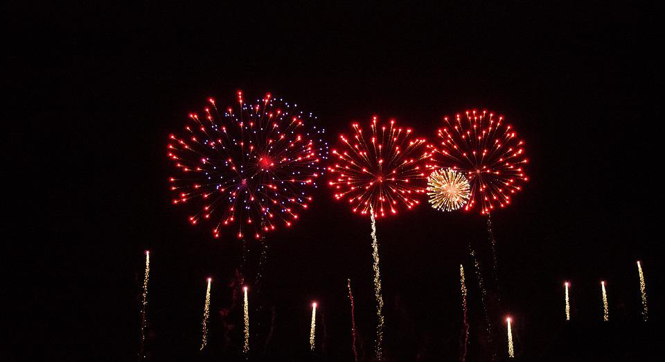 Fireworks, New Year's Eve, New Year's Day, Pyrotechnics