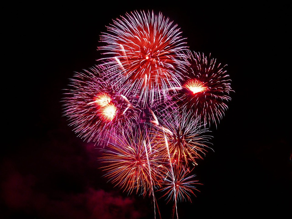 Fireworks, Rockets, Colors, Explosion, Night, Sparks