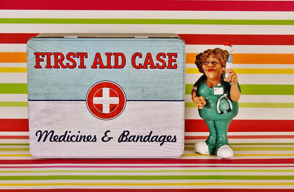 First Aid, Nurse, Tin Can, Emergency, Figure, Color