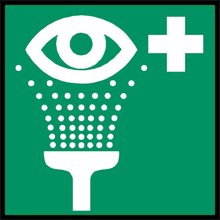 Eye Shower, Eye Wash, Rinse Eyes, First Aid, Sign