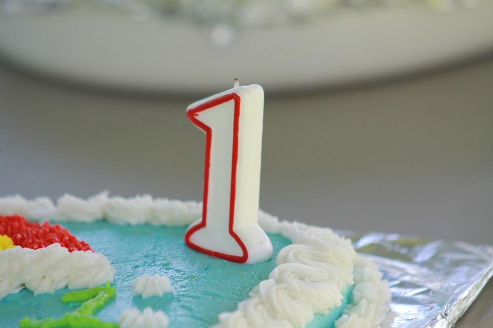 Birthday Cake, First Birthday, One, Birthday, Cake