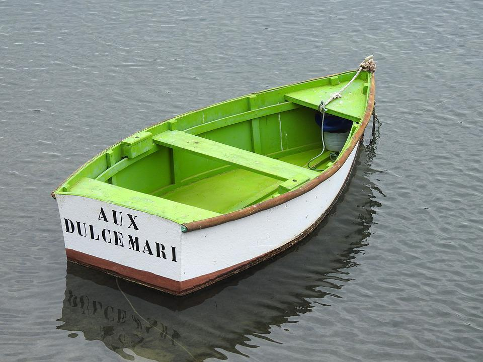 Fishing Boat, Green, Boot, Fischer, Rowing Boat