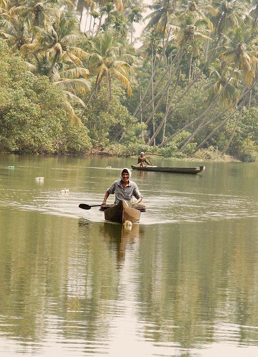 India, Cochin, Crab Fishing, Fischer
