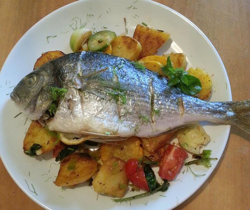 Fish Dish, Meal, Eat, Cook, Food