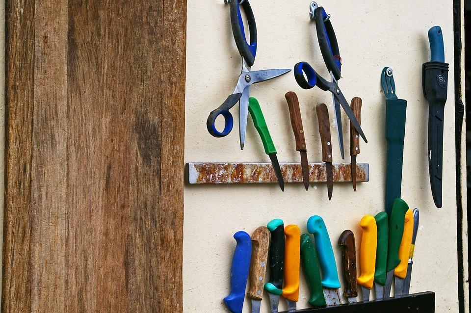 Fishing, Knife Set, Tool, Fisherman, Fish