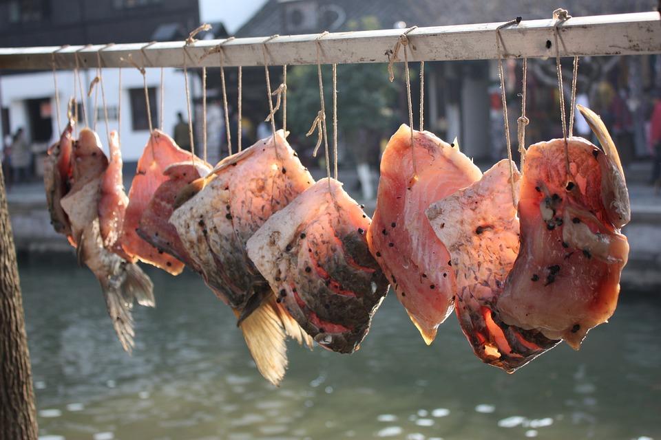 China, Fish, Market, Dried Fish