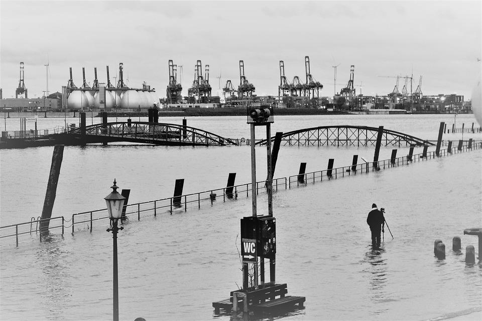 Flood, High Water, Schwarzweißfotografíe, Fish Market