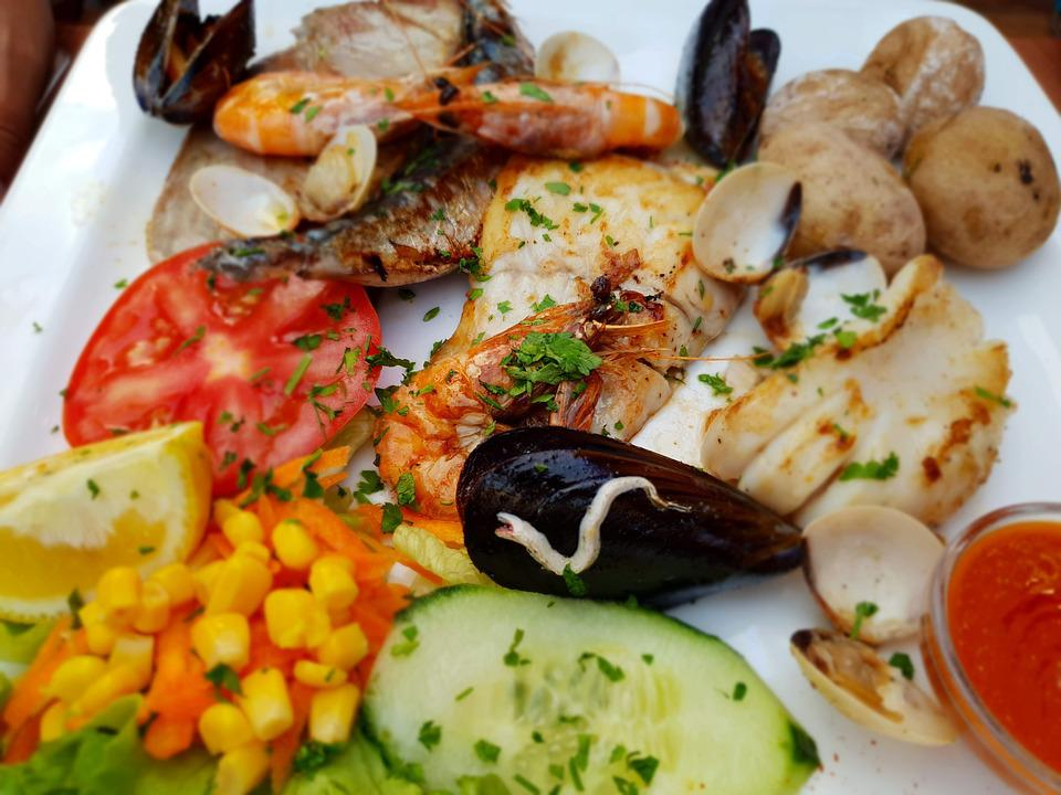 Food, Fish, Shellfish, Delicious, Meal, Fresh, Kitchen