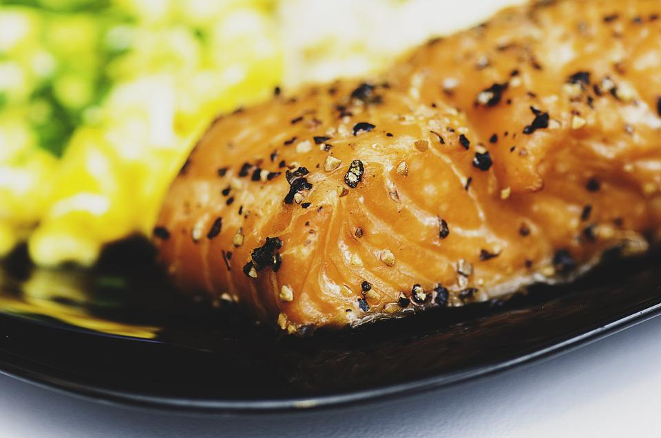 Salmon, Meal, Dish, Food, Fish, Seafood, Healthy, Fresh