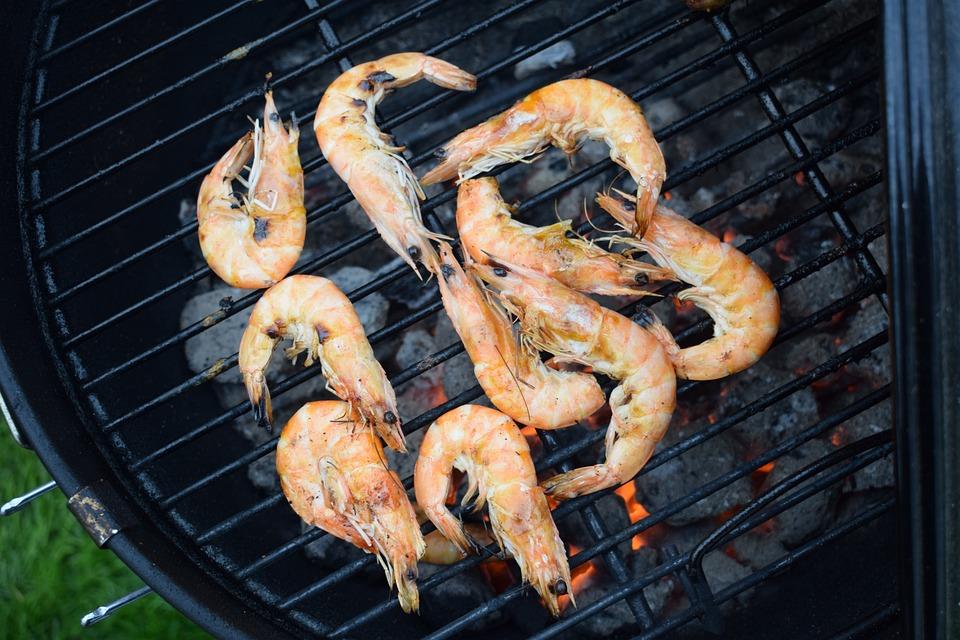 Shrimp, Barbecue, Food, Seafood, Delicious, Fish, Sea