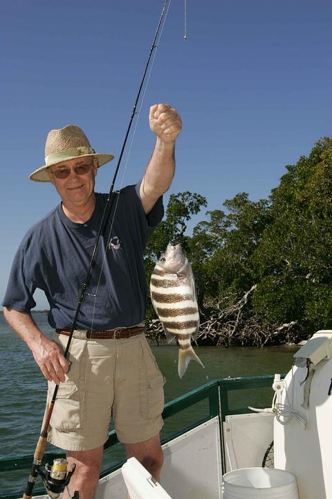 Fish, His, Fisherman, Happy, Hunting, Fishing, Sport