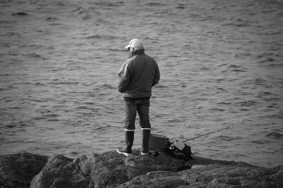 People, Body Of Water, One, Adult, Man, Fisherman